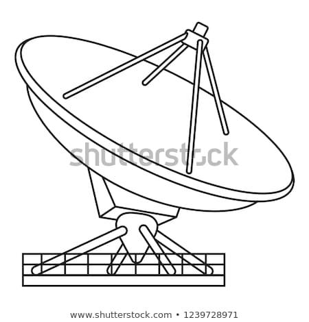Antena satelitarna line ikona internetowych komórkowych Zdjęcia stock © RAStudio