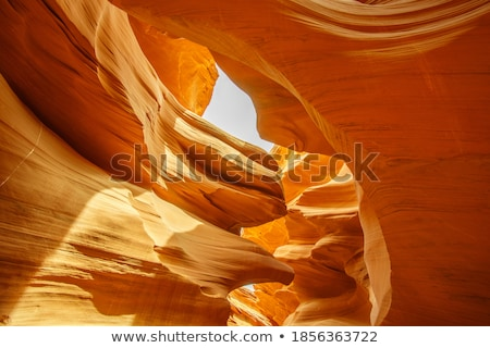 sandstone waves and colors inside iconic antelope canyon stock photo © capturelight