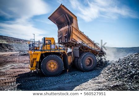 nagy · ipari · bányászat · teherautó · izolált · fehér - stock fotó © digifoodstock