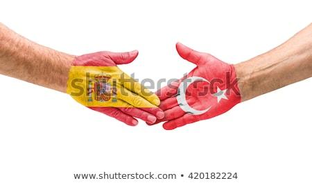 Football teams - Handshake between Spain and Turkey Stock photo © Zerbor