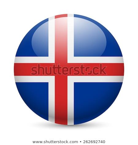 Исландия · флаг · изолированный · белый · знак · синий - Сток-фото © ojal