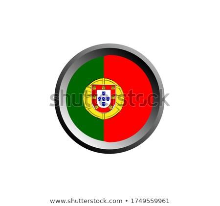 zászló · Portugália · fa · térkép · terv · piros - stock fotó © vector1st