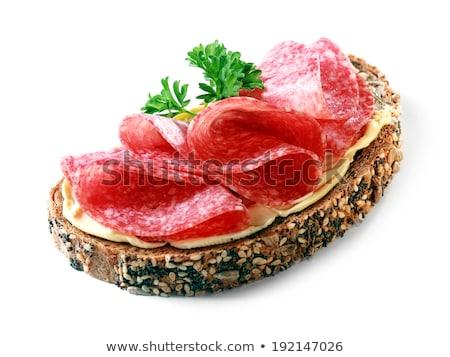Stock fotó: Inom · nyitott · szendvics · teljes · kiőrlésű · kenyéren