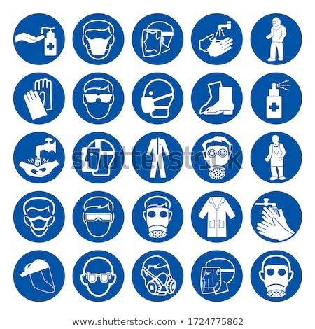 Hazard icons set stock photo © ayaxmr