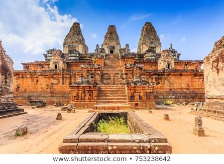 寺 アンコール カンボジア 建物 石 レンガ ストックフォト © prill
