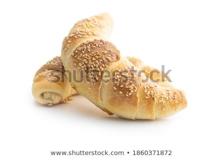 Breakfast with Freshly Baked Croissants Stock photo © dariazu