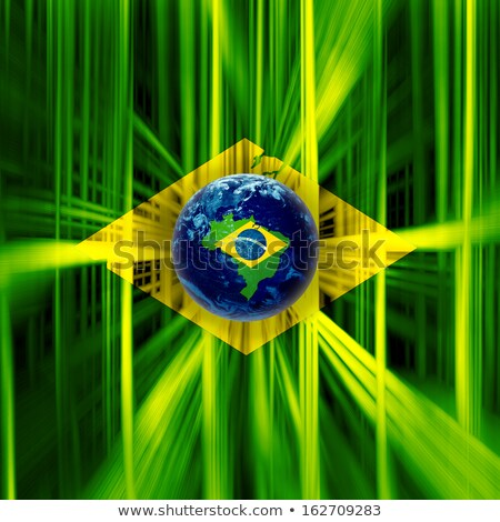 flag of Brazil and number 2016 Stock photo © nito