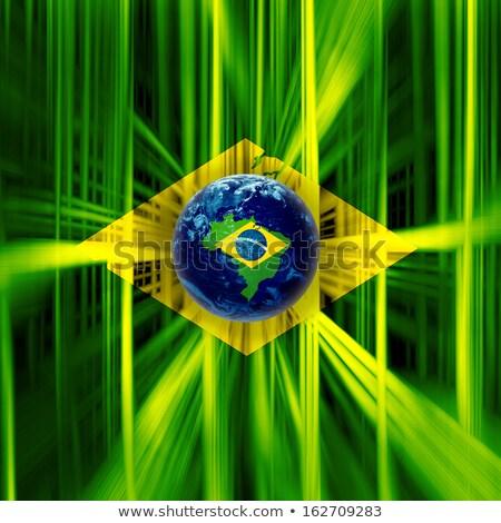 флаг · Рио-де-Жанейро · дизайна · зеленый · стране - Сток-фото © nito