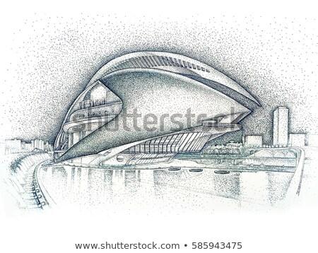 Palau művészetek Szófia város Valencia Spanyolország Stock fotó © artjazz