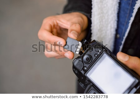 SD memory card on white background Stock photo © stoonn