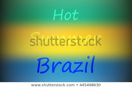 Rio Brazil color text and landmark for sport games Stock photo © cienpies