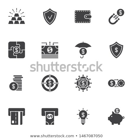 dollar puzzle gold and solid stock photo © oakozhan