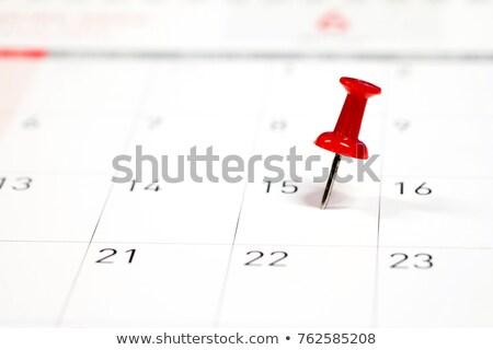 Especial vermelho pin ilustração 3d branco Foto stock © idesign