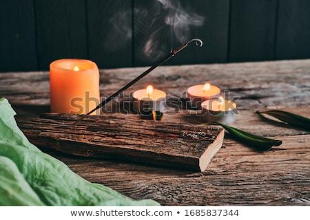 Incense sticks on black Stock photo © pakete