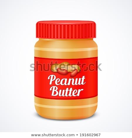 Mogyoróvaj műanyag bögre illusztráció étel háttér Stock fotó © bluering