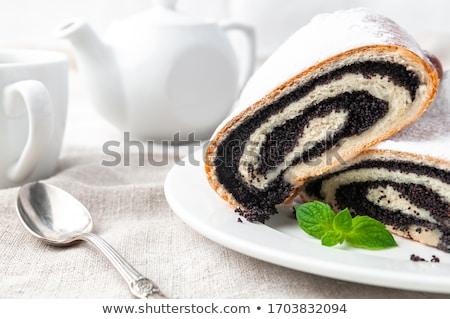 ケシ ケーキ カット 作品 パン 食品 ストックフォト © hamik