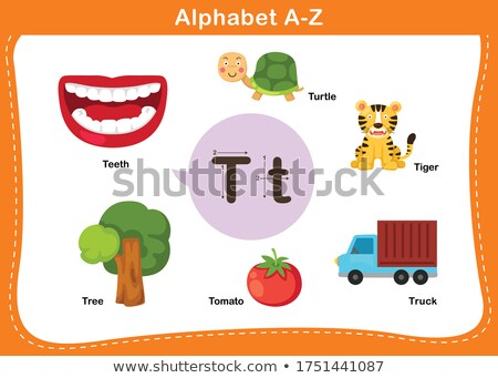 A letter T for tomato Stock photo © bluering