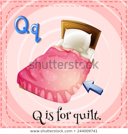 Flashcard letter Q is for quilt Stock photo © bluering