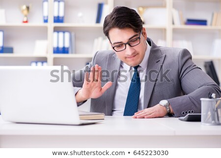 businessman playing drums stock photo © adam121