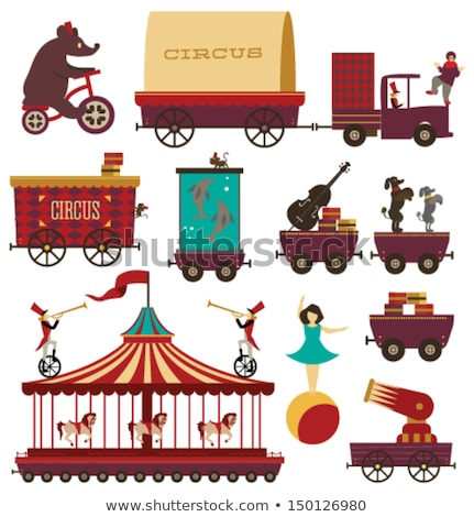 Elephant in the red wagon Stock photo © bluering