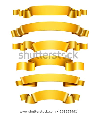Realistic yellow ribbon. 3D icon. Vector illustration, isolated on white.  stock photo © Said