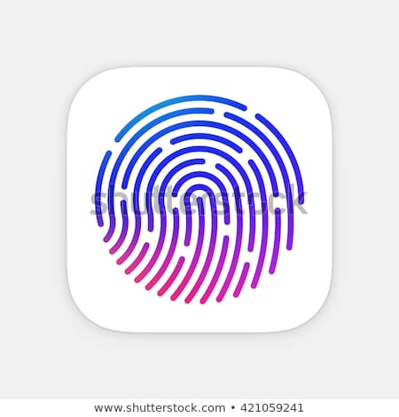 ID App icon template. Fingerprint vector illustration. Mobile application icon. Vector colorful id i Stock photo © Said