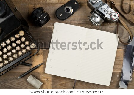 conceptual background of old technology. film with a photo stock photo © Panaceadoll