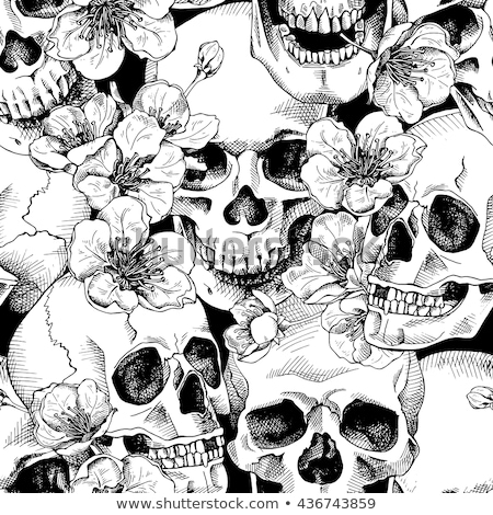seamless skull pattern Stock photo © Vanzyst