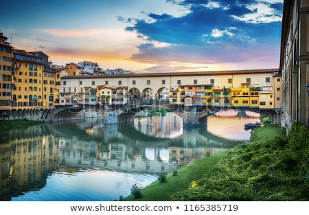 city of florence tuscany italy arno river stock photo © m_pavlov