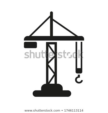 guindaste · quadro · casa · céu · edifício - foto stock © 5xinc