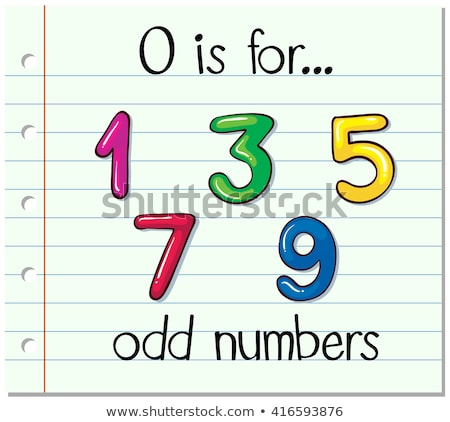 Flashcard letter O is for odd numbers Stock photo © bluering