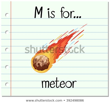 Letter m meteoor illustratie kinderen brand kind Stockfoto © bluering
