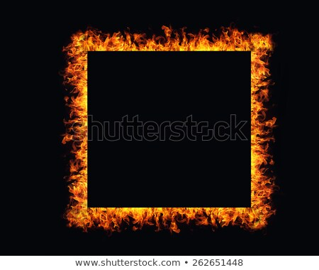 Stockfoto: Flames Frame Background