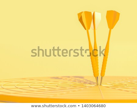 dart hitting a target 3d stock photo © djmilic