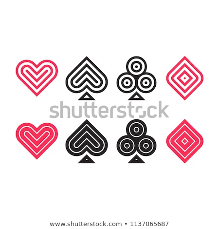 Playing cards suits flat icons Stock photo © day908