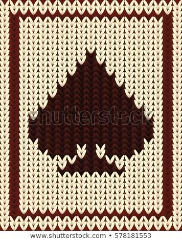 knitting spades poker card vector illustration stock photo © carodi