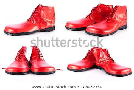 Boots for clown isolated. Funny shoes on white background stock photo © MaryValery