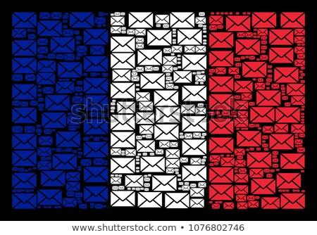 French flag composed of envelopes  Stock photo © CaptureLight