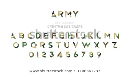 modern armed forces types flat vector concept stock photo © robuart