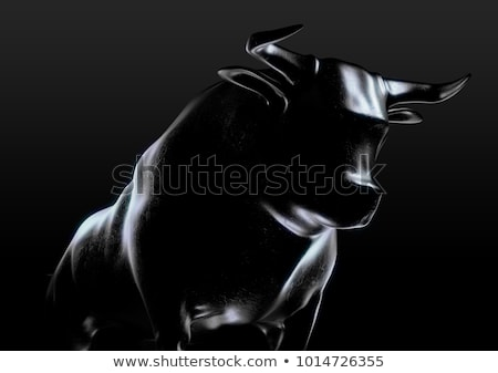 bull market bronze casting contrast stock photo © albund