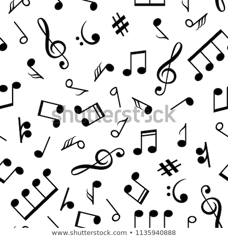 Seamless musical notation background Stock photo © Andrei_
