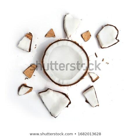cocco · pezzi · vintage · legno · sfondo · shell - foto d'archivio © digifoodstock