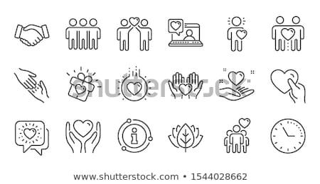 heart care icon flat design stock photo © wad