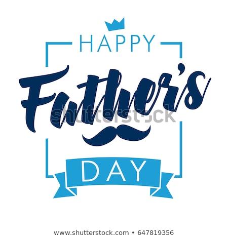 jour · de · pères · heureux · cravate · carte · signe · bleu · texture - photo stock © alexmillos