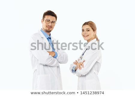 students couple in lab stock photo © dotshock