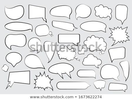 Lege tekstballon poster flyer business Stockfoto © masay256