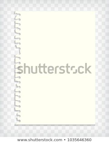 Nota boek pagina gescheurd rand Stockfoto © pakete