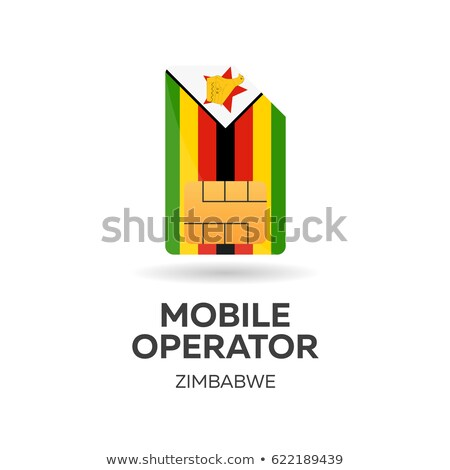 Zimbabwe mobile operator. SIM card with flag. Vector illustration. Stock photo © Leo_Edition