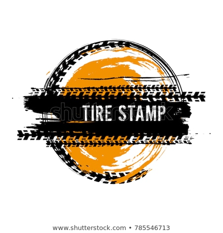 Stock fotó: Wheel Tire Tracks In Dirty Grunge Style Background