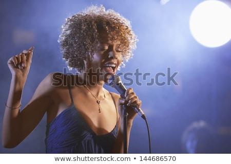 Női énekes énekel népszerű zene koncert Stock fotó © wavebreak_media